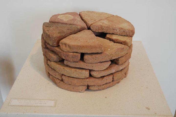 [La_Union_Museo_Arq_Portman]_Peculiar_seccion_de_columna_con_sectores_ceramicos
