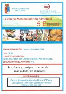 Curso Manipulador de Alimentos @ Centro Cultural Asensio Sáez   La Unión   Región de Murcia   España