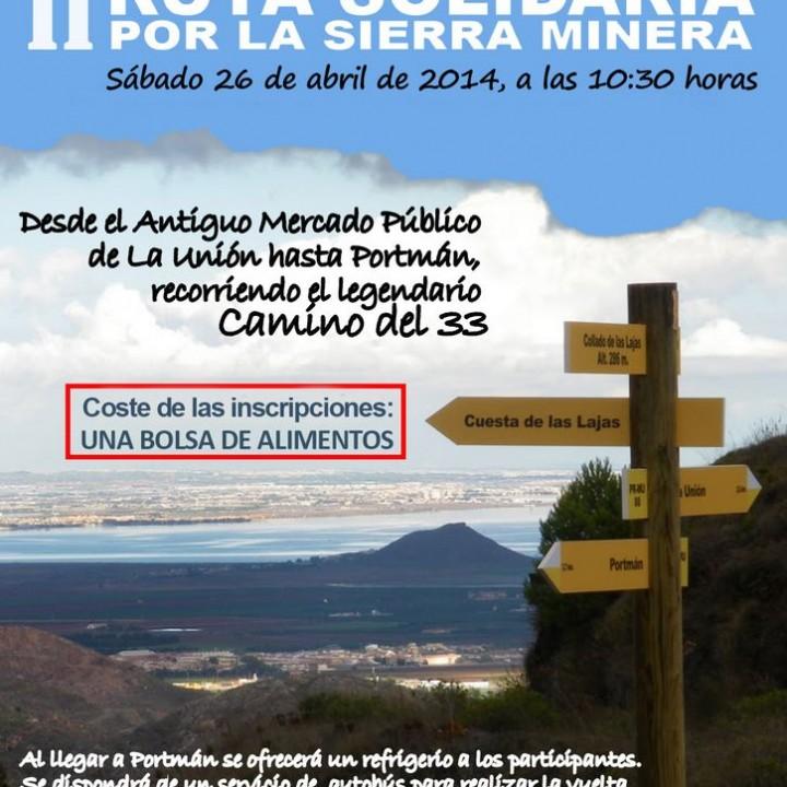 1.Cartel Ruta Senderista Solidaria a Portmán.