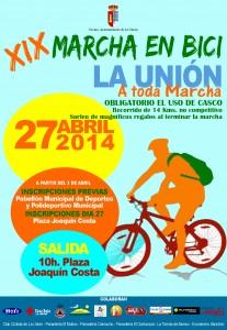 XIX Marcha en bici @ Recorrido de 14 Km, no competitivo, partiendo desde la Plaza Joaquín Costa | La Unión | Región de Murcia | España
