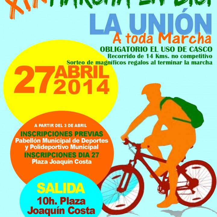 Cartel Marcha en bici -A toda marcha.2014