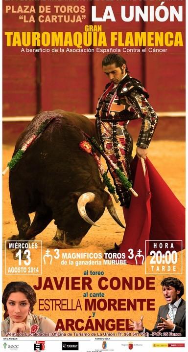 Cartel Tauromaquica flamenca solidaria.