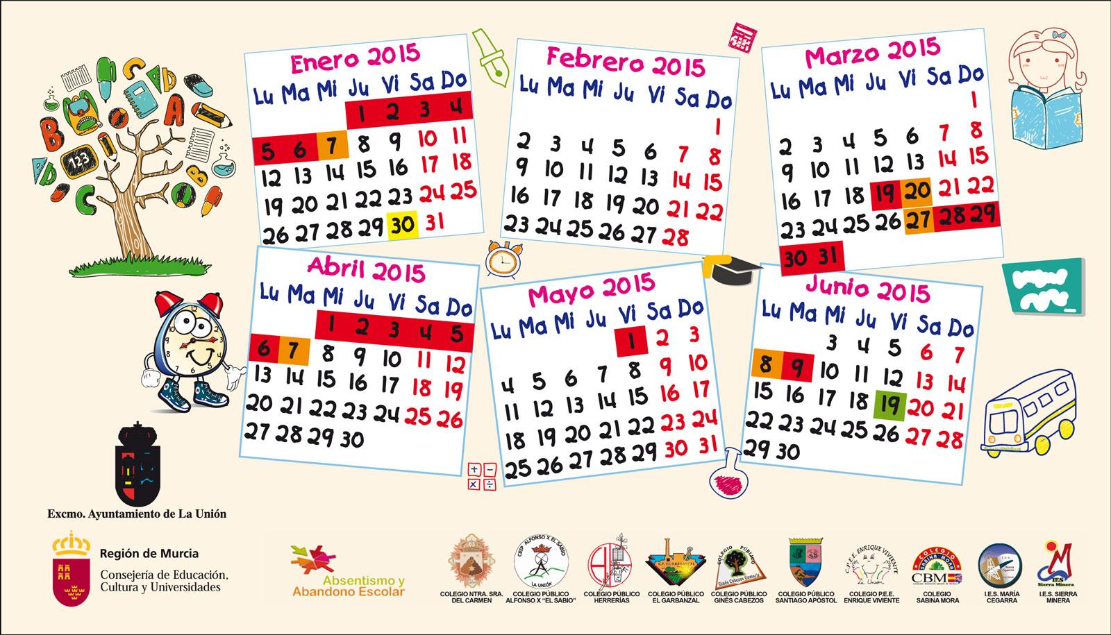 Calendario-Escolar-2014   Excmo. Ayuntamiento de La Unión