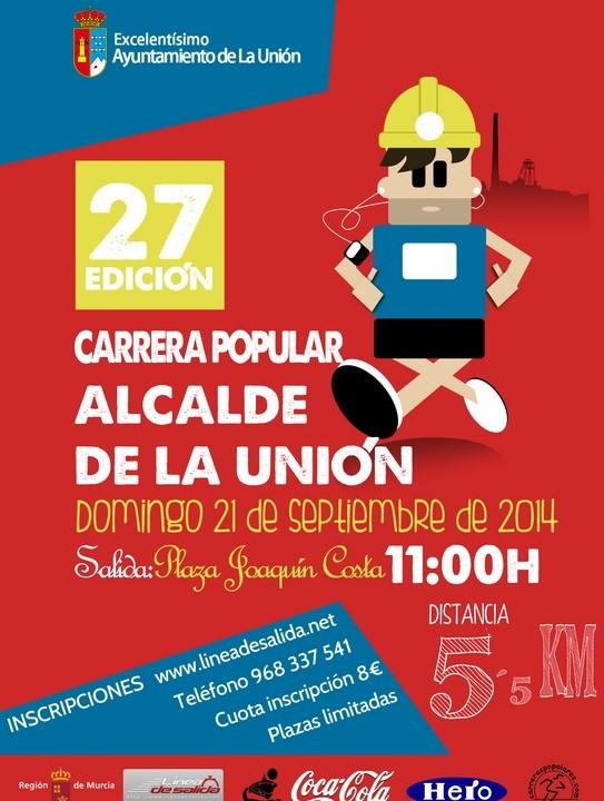 Cartel Carrera Popular Alcalde de La Unión 2014