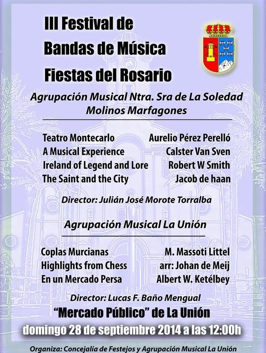 Cartel Festival Bandas de Música 2014