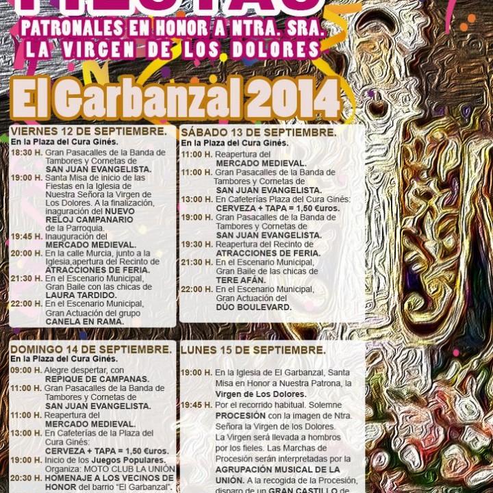 Cartel Fiestas El Garbanzal.