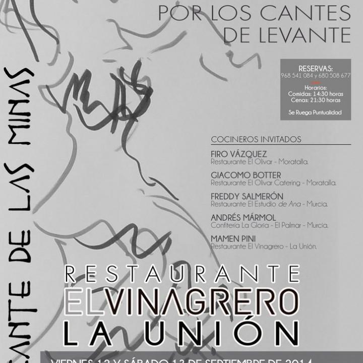 Cartel II Encuentro de Alta Cocina de El Vinagrero.