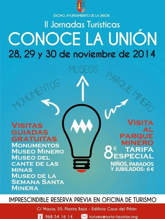 Cartel II Jornadas Turísticas -Conoce La Unión- 2014.
