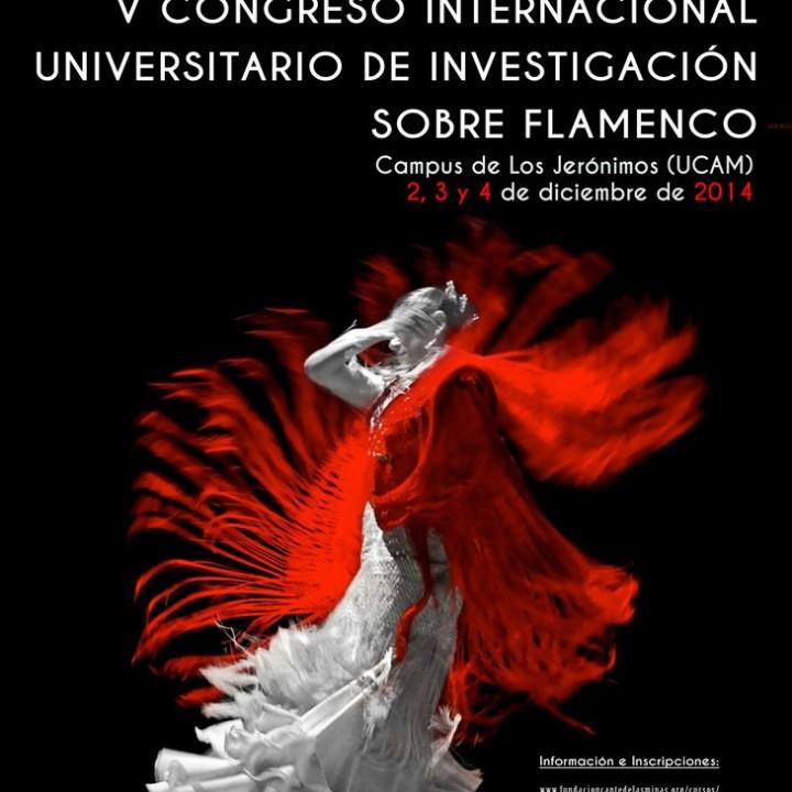 Cartel V Congreso Internacional Universitario de Investigación sobre Flamenco.2014
