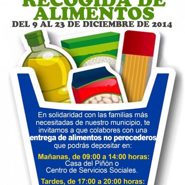 Cartel Campaña de recogida de alimentos 2014