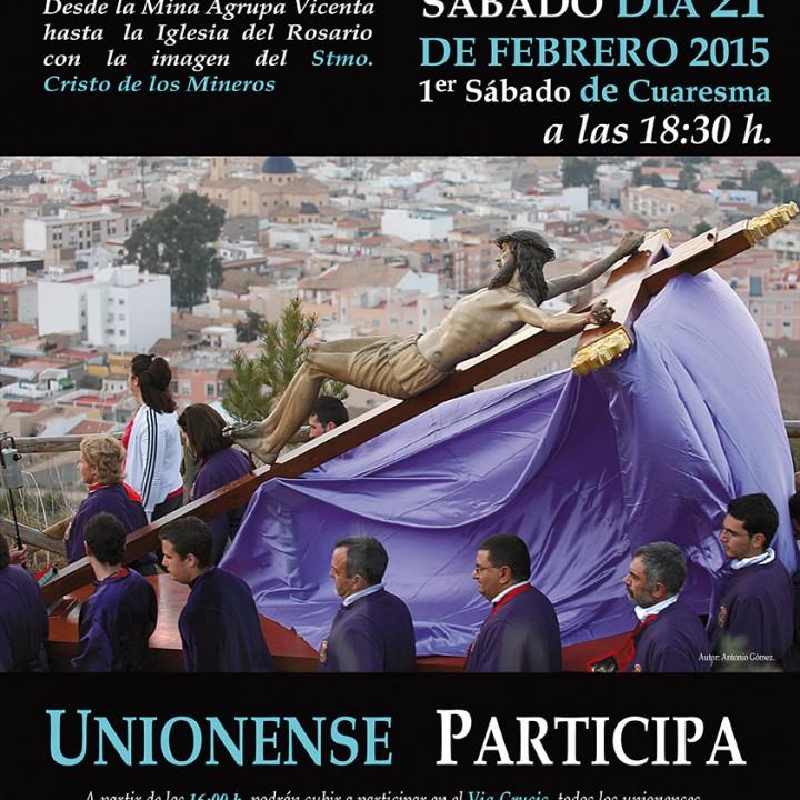Cartel Via Crucis de la Sierra Minera 2015
