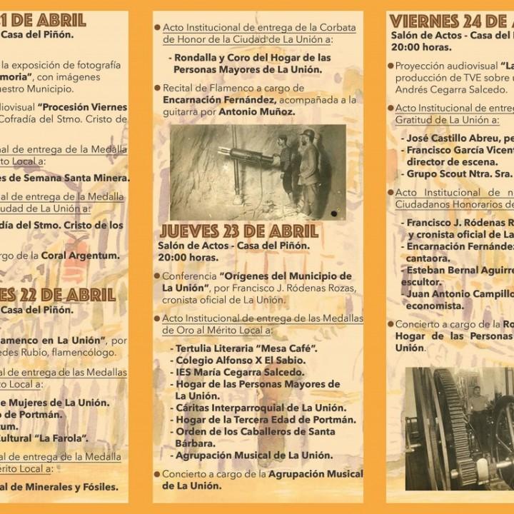 1.Triptico con el Programa de actos del 155 aniversario