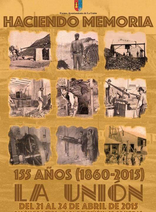 Cartel 155 Aniversario de La Unión del 21 al 24 de Abril.Programa de acvtos.