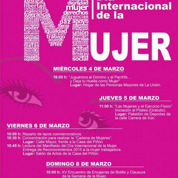 Cartel Dia de la Mujer Trabajadora 2015.
