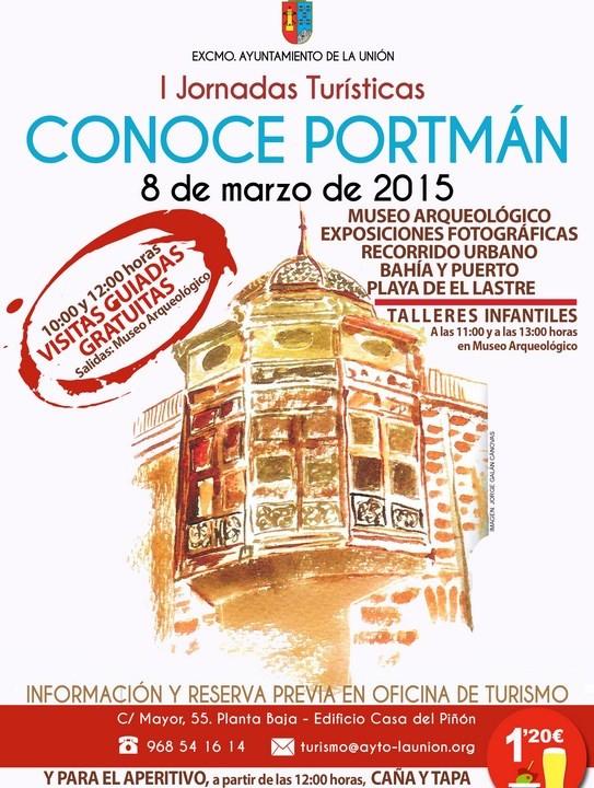 Cartel I Jornadas Turísticas -Conoce Portmán-.2015