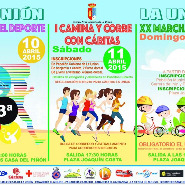 Cartel celebrando el deporte en La Unión 2015