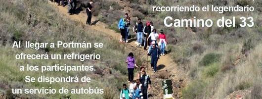 Cartel Ruta solidaria senderista hasta Portmán 2015
