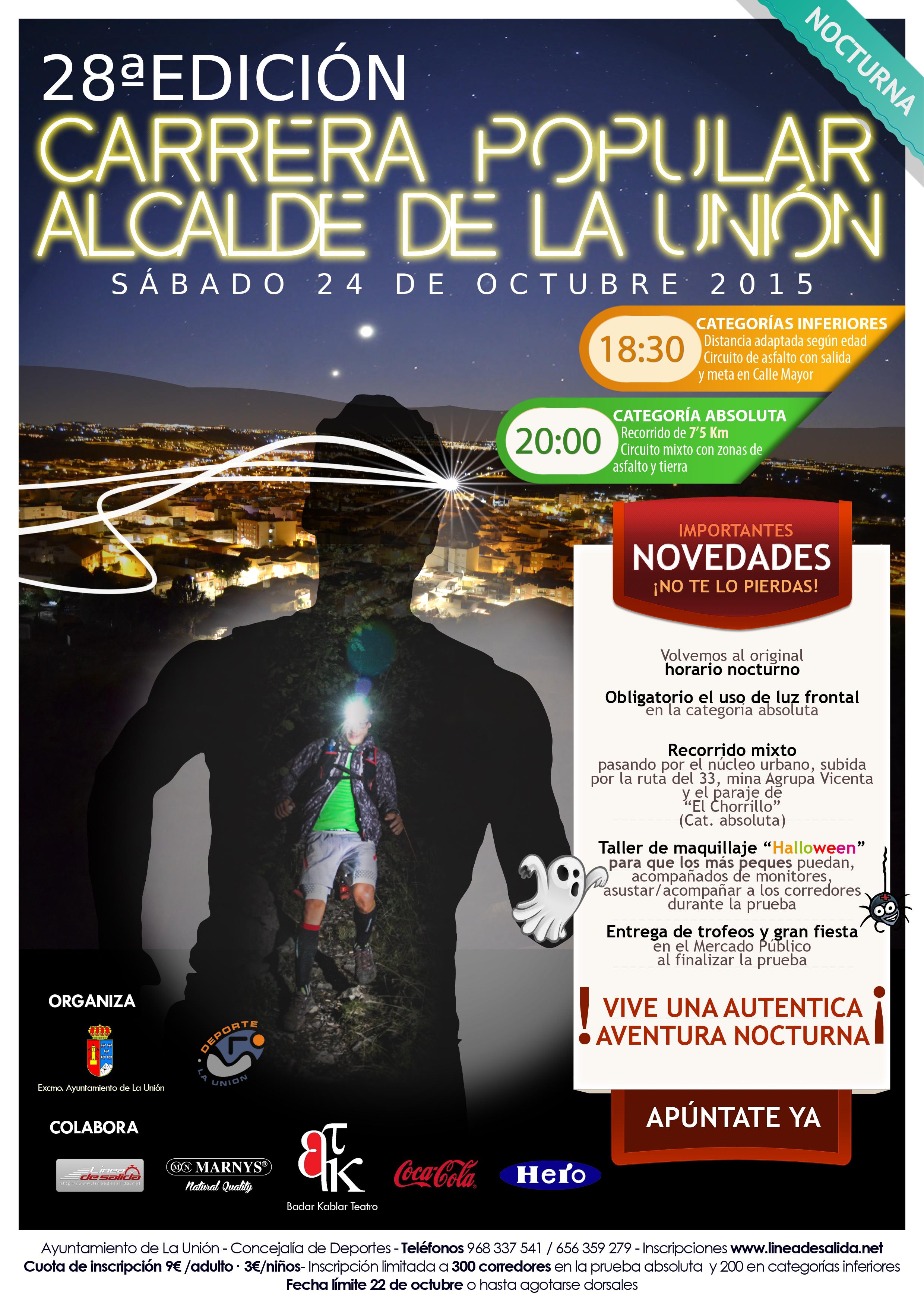 """XXVIII Edición de la carrera nocturna """"Alcalde de La Unión ..."""