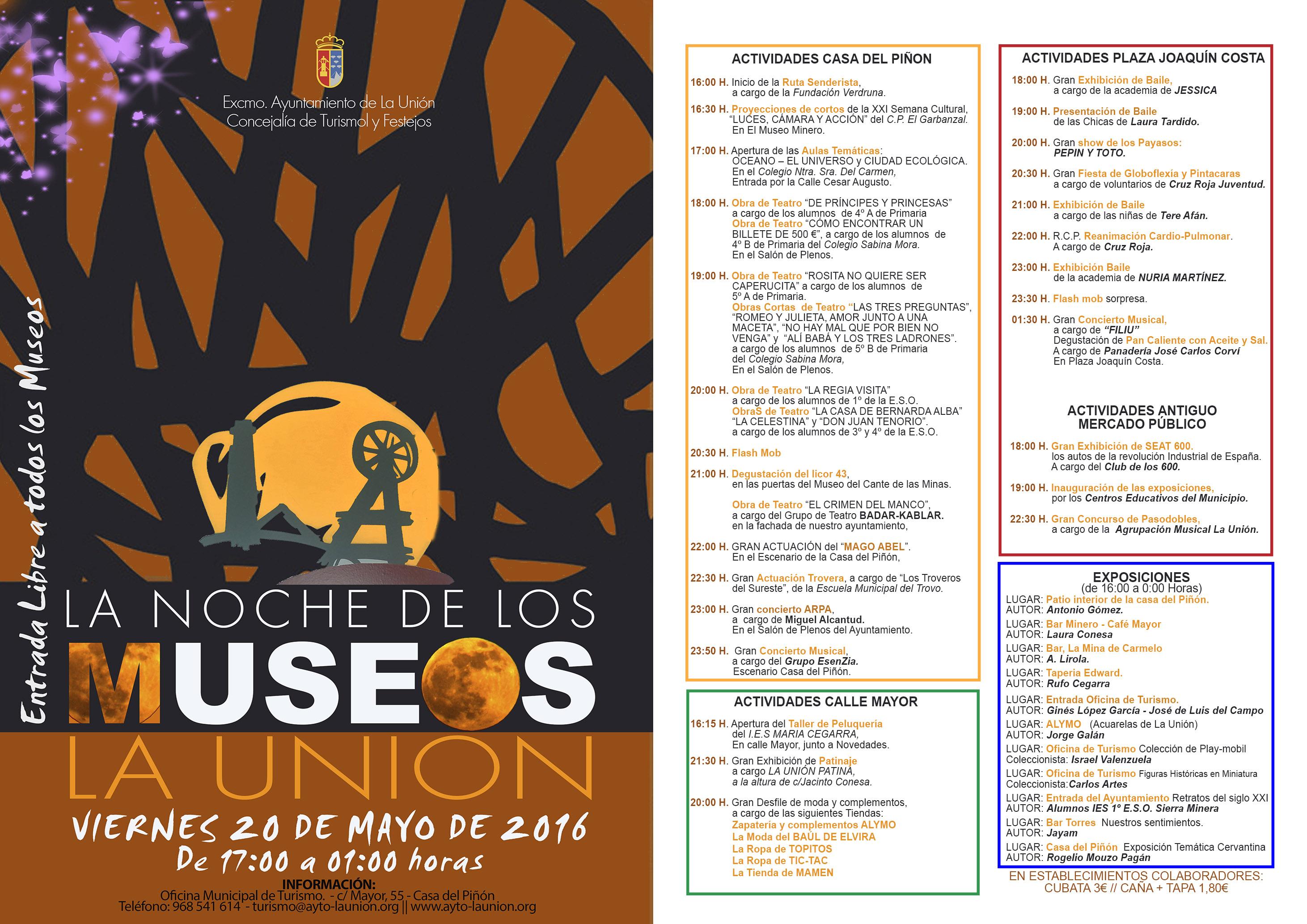 NOCHE DE LOS MUSEOS EN LA UNIÓN | Excmo. Ayuntamiento de La Unión