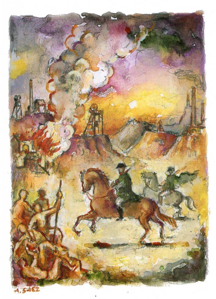 Representación del 7 de marzo de 1916 por Asensio Sáez